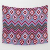 ikat Wall Tapestries featuring IBIZA IKAT by Nika