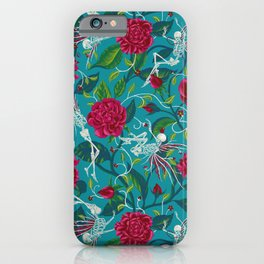 Death of Summer (carmine and blue) iPhone Case