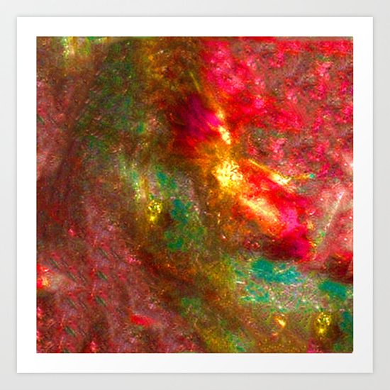 Fire Fairy In Paradi Art Print