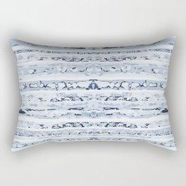 Boho Stripes Indigo Blue Rectangular Pillow