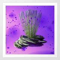 Purple Breeze Art Print