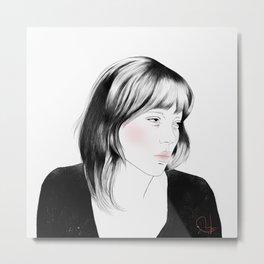 Léa Seydoux - Melancholia Serie Metal Print