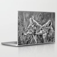 coyote Laptop & iPad Skins featuring Coyote by Patrick Entenmann