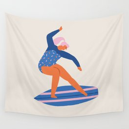 Surf girl Wall Tapestry