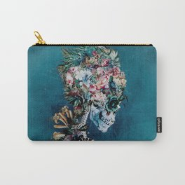 Floral Skull RP Carry-All Pouch