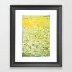 yellow greens Framed Art Print