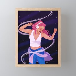 Late Night Jams Framed Mini Art Print