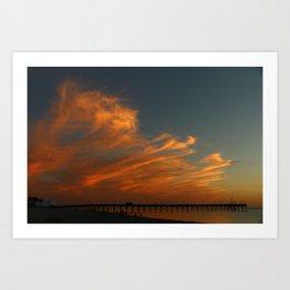 Venice Beach Sunset - Florida Art Print