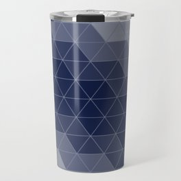 Navy Blue Triangles Travel Mug