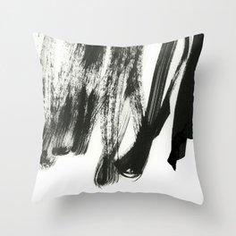 black on white 2 Throw Pillow