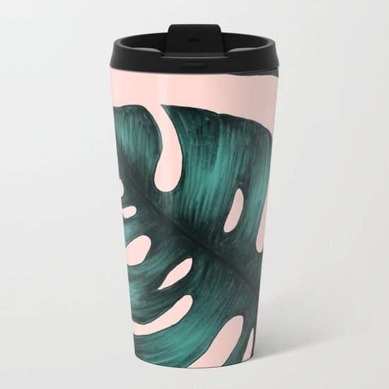 Philodendron Monstera Metal Travel Mug