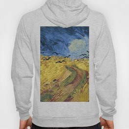 Wheatfield with Crows by Vincent van Gogh Hoody