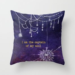 I Am the Captain of My Soul Throw Pillow