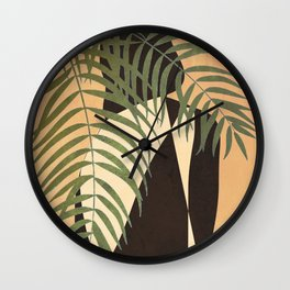 Resting in a Shade Wall Clock