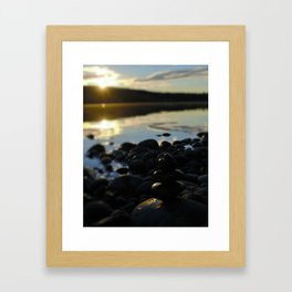 Sunshine and Stones Framed Art Print