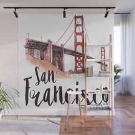 San Francisco watercolor Wall Mural