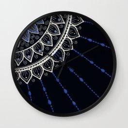 Mandala - Blue and Black Wall Clock