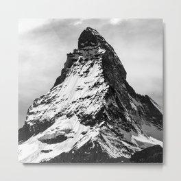 black and white mountain Metal Print