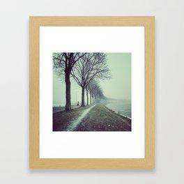 Winter convergence Framed Art Print