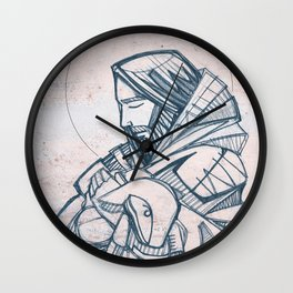 Jesus Christ Good Shepherd Wall Clock