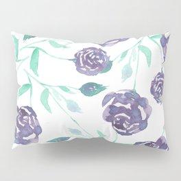 Purple Rose Bush Pillow Sham