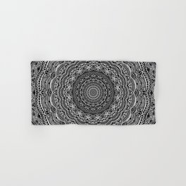 Zen Black and white mandala Sophisticated ornament Hand & Bath Towel