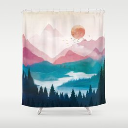 Wilderness Becomes Alive at Night II Shower Curtain