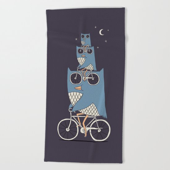 Night Rider Beach Towel