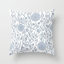 Delft Dahlias Throw Pillow