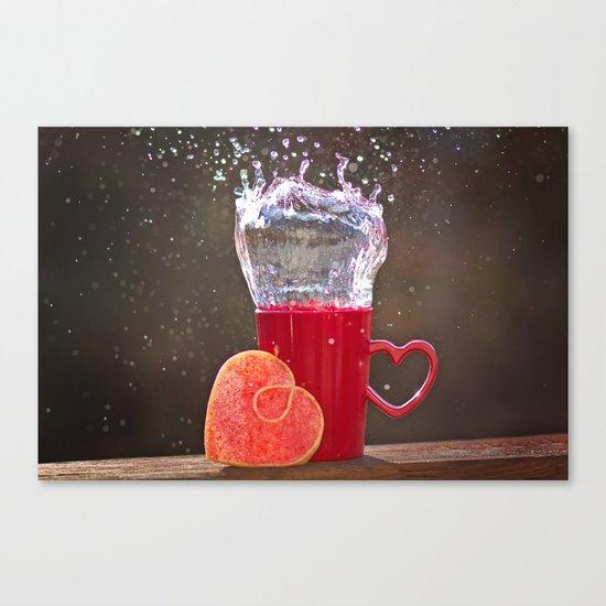 Splash Love Canvas Print
