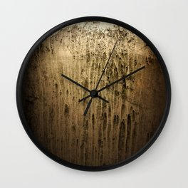 Old gold window at night Wall Clock