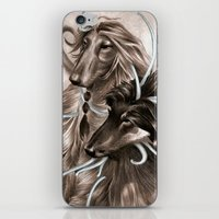 the hound iPhone & iPod Skins featuring Hound Dog by Estúdio Marte