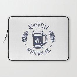 Asheville Beer T-Shirt - White Laptop Sleeve
