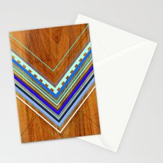 Aztec Arbutus Blue Stationery Cards
