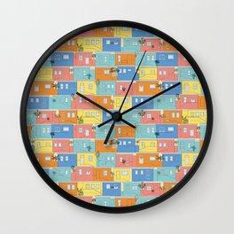 Pastel Bo-Kaap Wall Clock