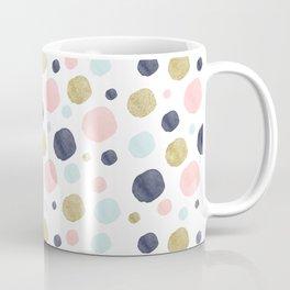 Watercolor and Glitter Dots Coffee Mug