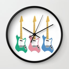 Strumming the guitar! Wall Clock
