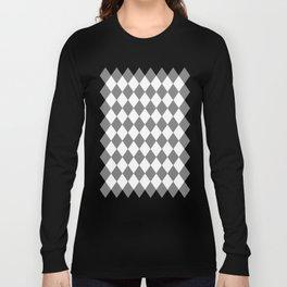 Diamonds (Gray/White) Long Sleeve T-shirt