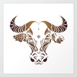 Protect the Nepal Buffalo by #Bizzartino Art Print