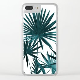 Fan Palm Leaves Jungle #1 #tropical #decor #art #society6 Clear iPhone Case