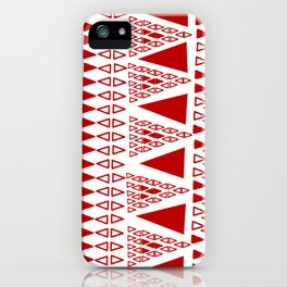 Zig Zag Pattern -  brick red iPhone Case