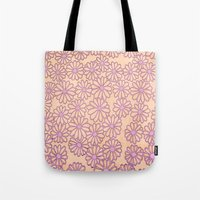 daisies Tote Bags featuring daisies by clemm