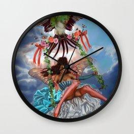 Swing Fairy Wall Clock