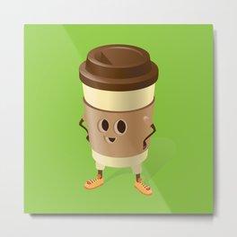 Happy Coffee Metal Print