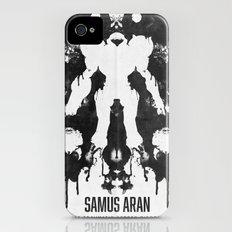 Samus Aran Metroid Geek Psychological Diagnosis Ink Blot  iPhone (4, 4s) Slim Case
