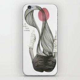 con el corazón tan suave como yo iPhone Skin
