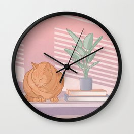 Cat Nap Wall Clock