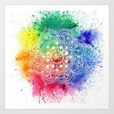 Multicolor mandala Art Print