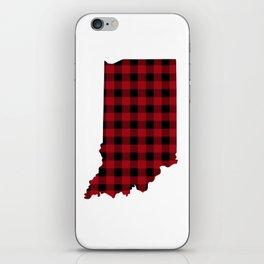 Indiana - Buffalo Plaid iPhone Skin