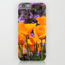 Poppies And Purple Lantana iPhone Case